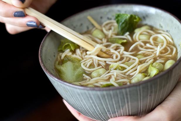 Soupe de noodles aux legumes