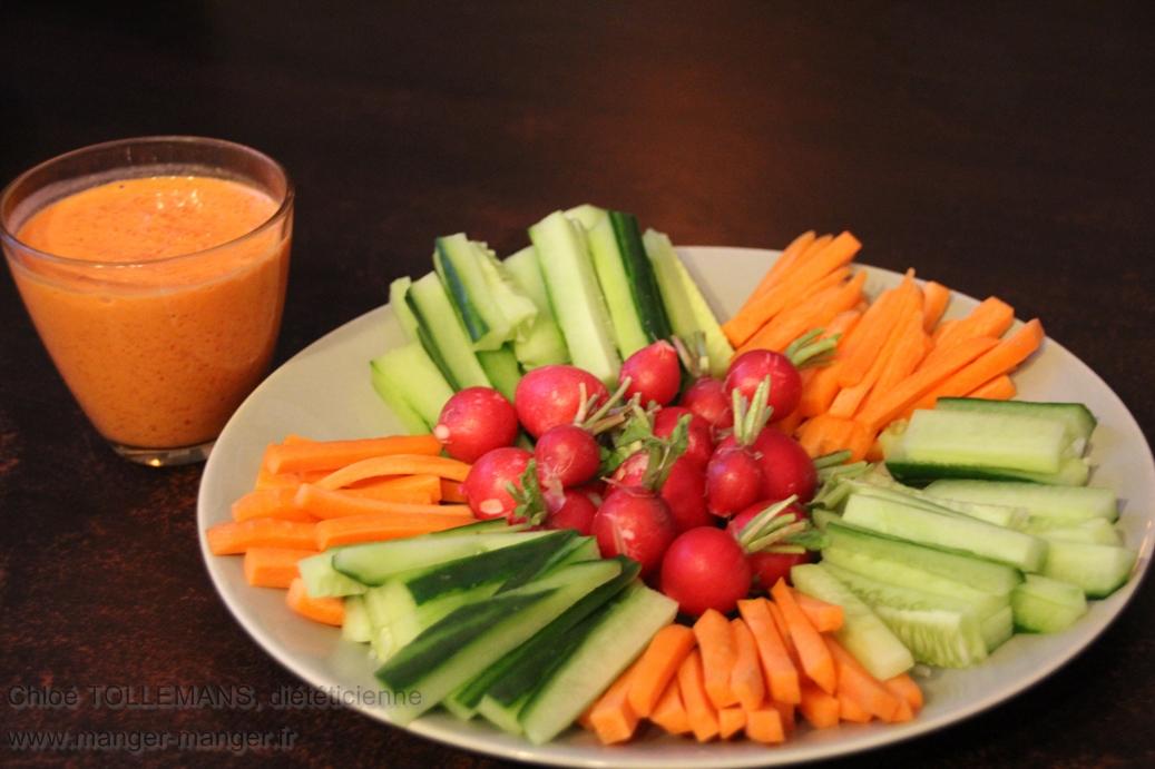 Dieteticienne Toulouse - Apero legumes sauce