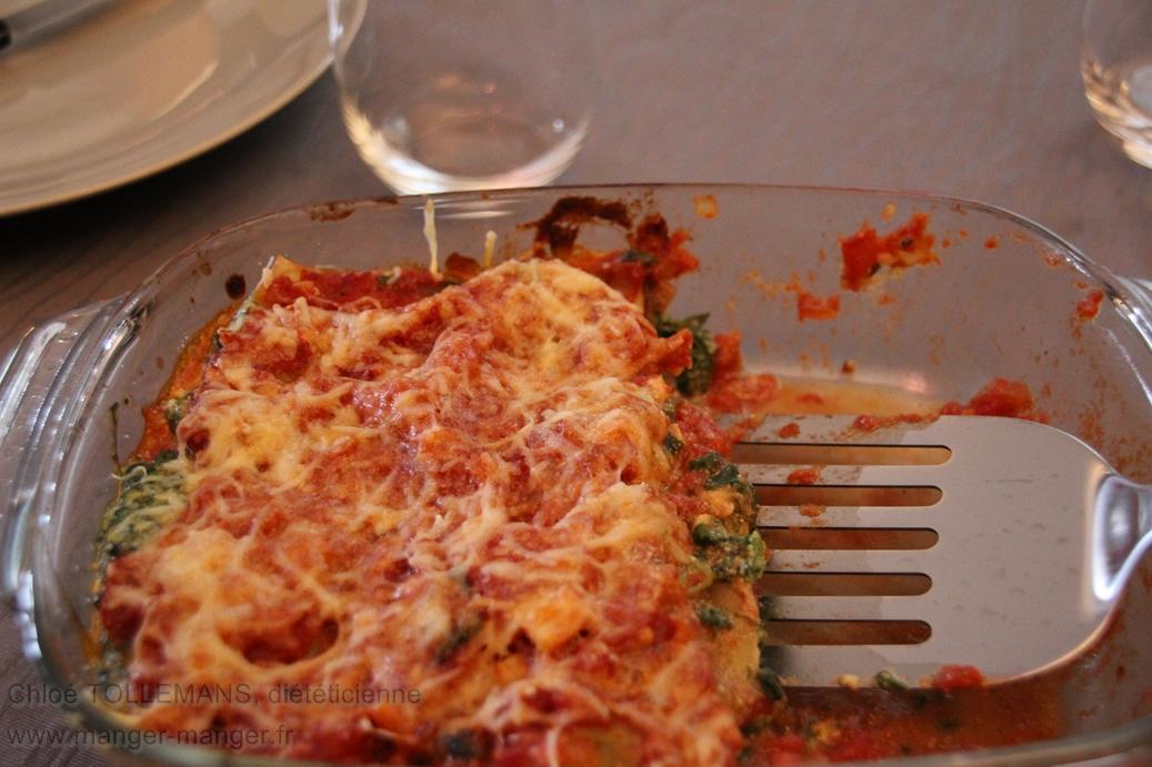Dieteticienne Toulouse - Lasagnes vegetariennes