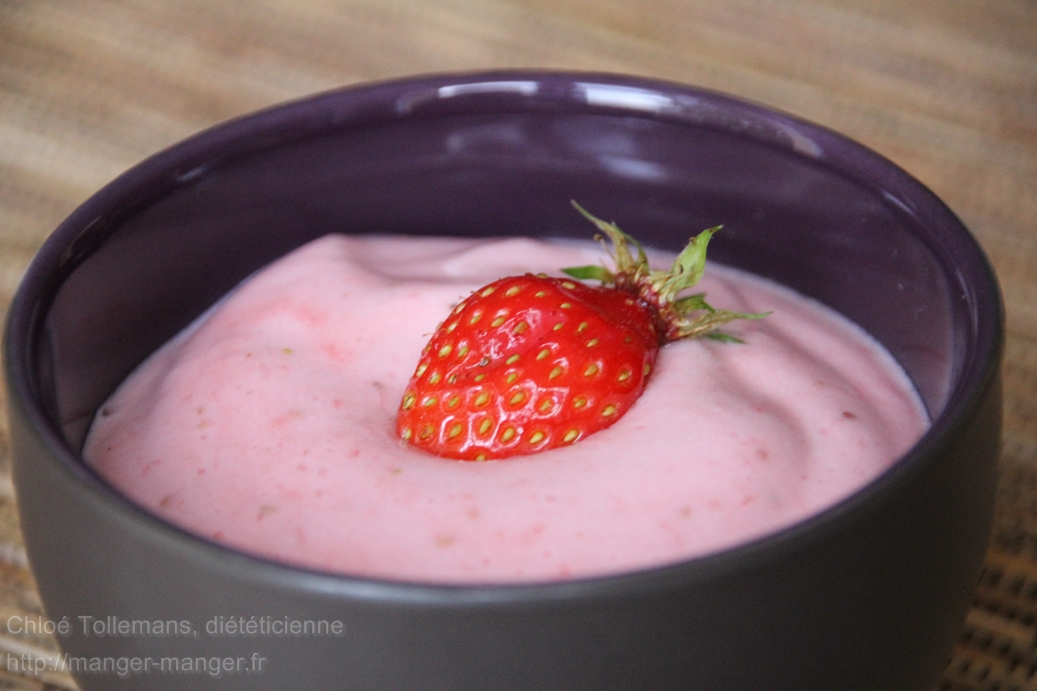Dieteticienne Toulouse - Mousse de fraises