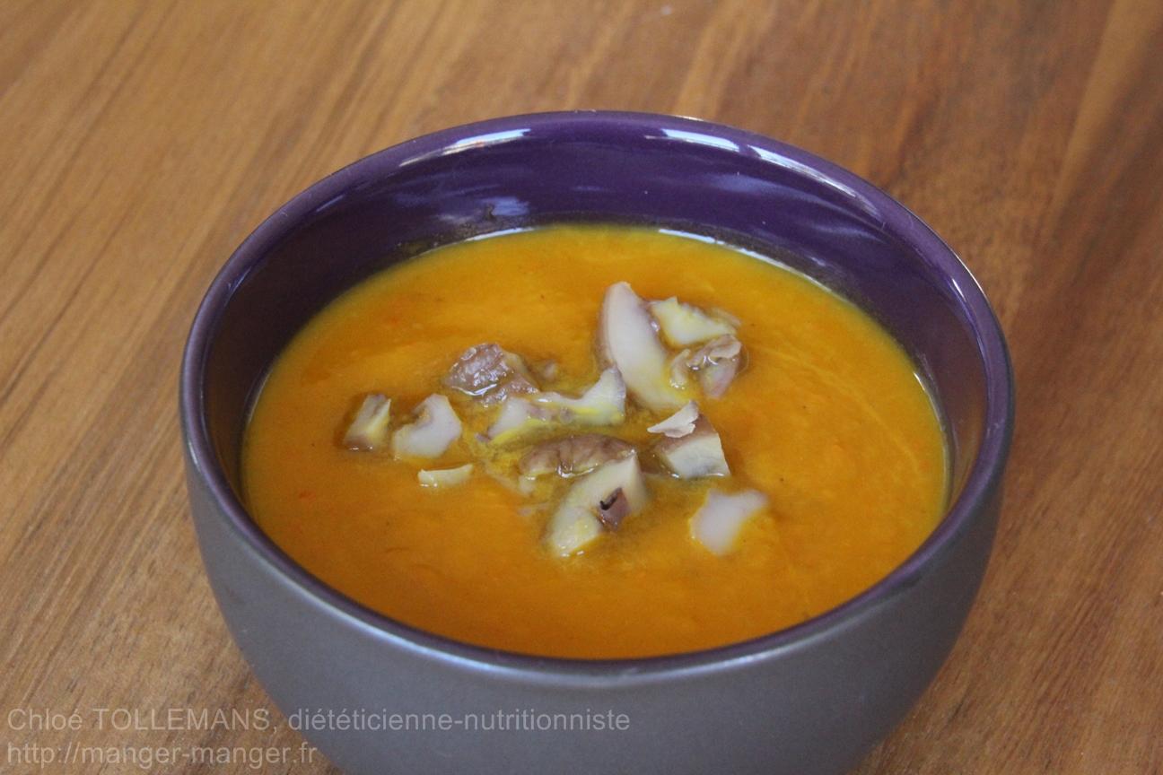 Dieteticienne Toulouse - Soupe potimarron chataignes
